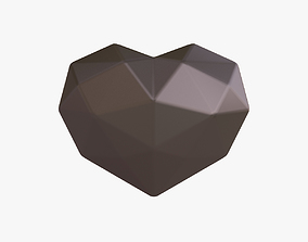 Black heart 3D model