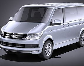 Volkswagen Transporter Multivan T6 2016 VRAY 3D