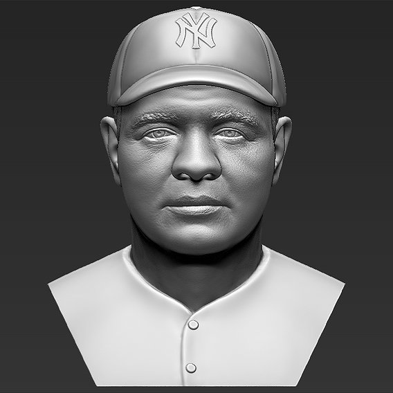 Babe Ruth bust for 3D printing