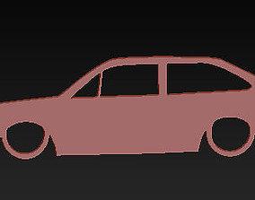3D print model llavero volkswagen gol gti keychain
