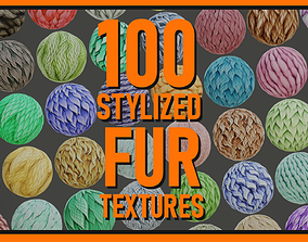 3D model Stylized Fur Textures Bundle