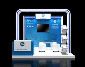 3D model Booth 3x3