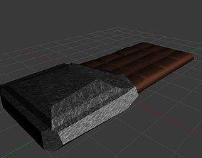 3D asset Modifiable chocolate bar prop