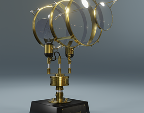 3D Steampunk Microscope