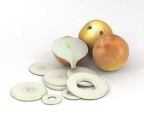 3D model Yellow Onion