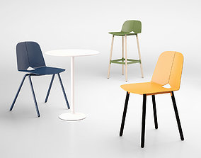 Tait Seam chair stool stacking chair 3D model