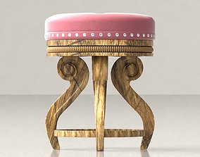 Vintage Chair or Stool 3D asset