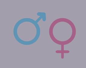 3D asset Gender Symbols