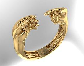 comrade hands Ring 3D print model