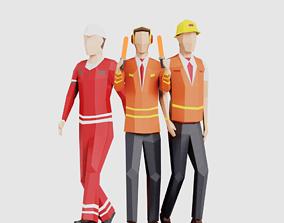 3D model Airport Crew Men