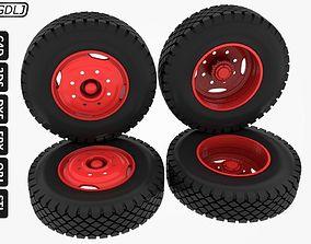 Wheels-Tires Truck Scale 1-14 3D printable model