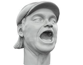 Kim Larsen 3D printable portrait sculpture