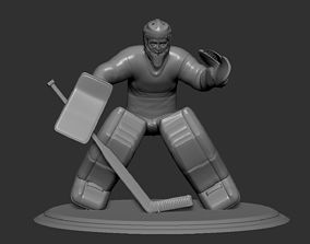 Hockey Player goalie Collectible Figure Statue 4