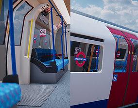 3D asset Subway Train