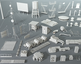 Rooftop Collection - 4 - 47 pieces 3D model