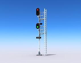 Railway Signals 3D asset