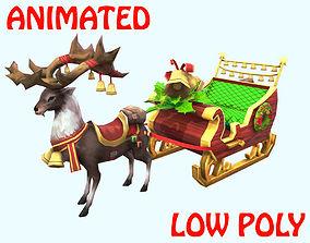 CHRISTMAS DEER 3D MODEL - ANIMATED animated