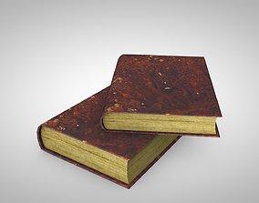 3D asset Old Grunge Books
