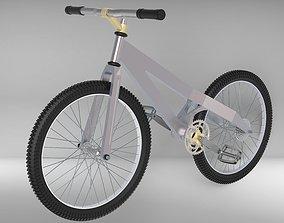 3D model sport bike with manufactured frame