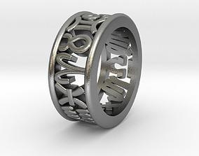 3D printable model 49size Constellation symbol ring