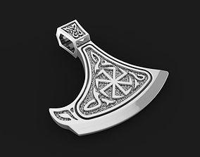 Pendant Slavic Axe 02 3D print model