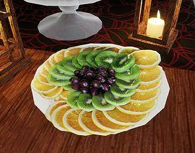 3D model Sliced fruits Norvedem food