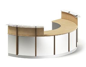 Round Reception Desk 3D