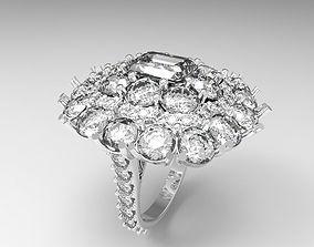 3D printable model flow ring