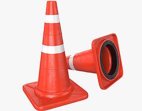 Traffic cone element 3D model