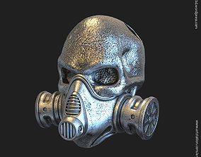 3D printable model skull with mask vol1 pendant jewelry