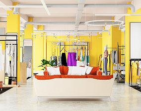 Showroom Clothes store 3D model