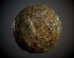 3D model Muddy Soil Grass Rock Ground Seamless PBR Texture