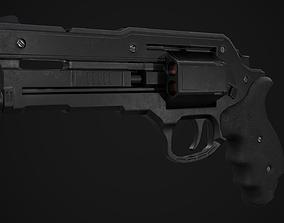 Revolver Game Ready 3D asset