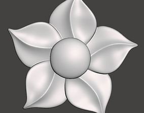 WoodCarving floral detail - 3d model for CNC 1