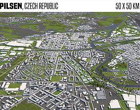 Pilsen Czech Republic 3D model