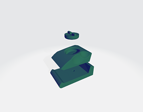 Ergonomic Sanding Block for Carpentry 3D printable model 1