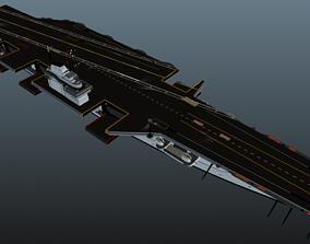 3D asset Futuristic AirCraft Carrier TP-7