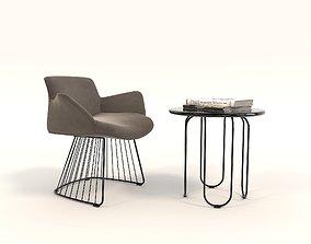 3D Contemporary Design Armchair Set 9