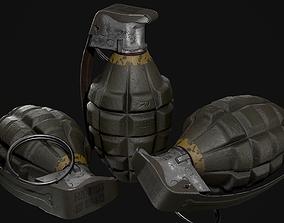 3D asset game-ready MK2 Hand Grenade