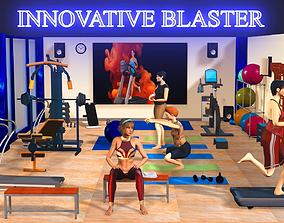 3D Fitness Gym Room
