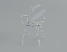 Crate And Barrel Scroll Chair 3D model