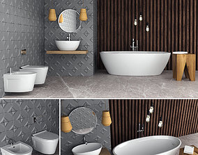 Bathroom Set Wave 3D