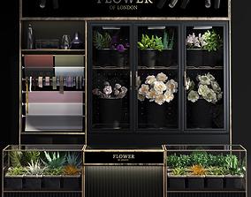 3D model Florist- Flower Shop-refrigerated flower 2