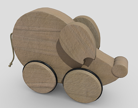 Wooden Mouse Toy 3D model