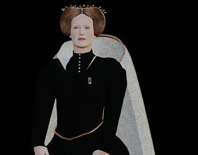 Queen Elizabeth I 3D model rigged