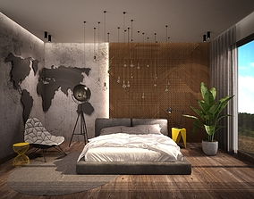 3D asset Bedroom design