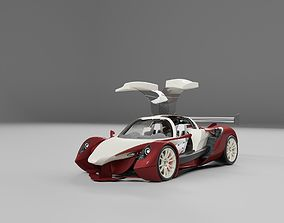 3D Lemsis v12 super sports racing car concept