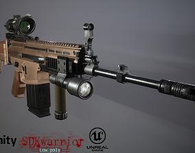 3D asset Scar FN