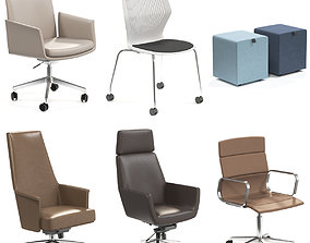 Office Chair Stool Collection 3D