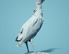 Woudaapje Low Poly Bird 3D print model